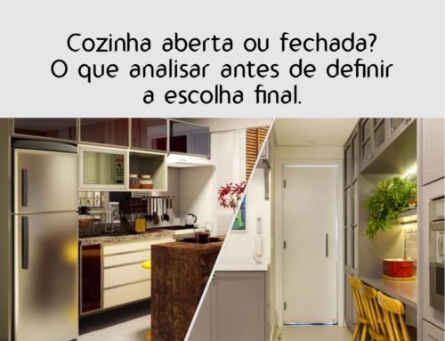 Cozinha aberta ou fechada? O que analisar antes de definir a escolha final.